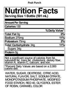 gatorade fruit punch