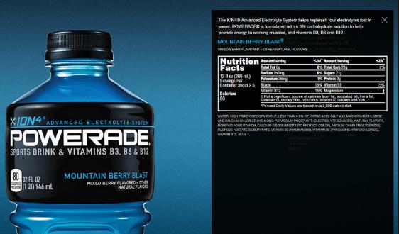 Powerade Ingredients | Sports Drinks USA