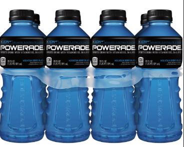 poweade blue bottle