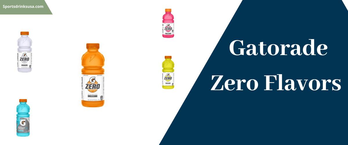 Gotorade zero flavors
