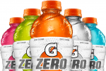 Bottles to display Gatorade zero labels, ingredients are not present on these bottles