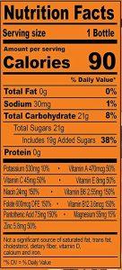Orange Mango nutrients chart