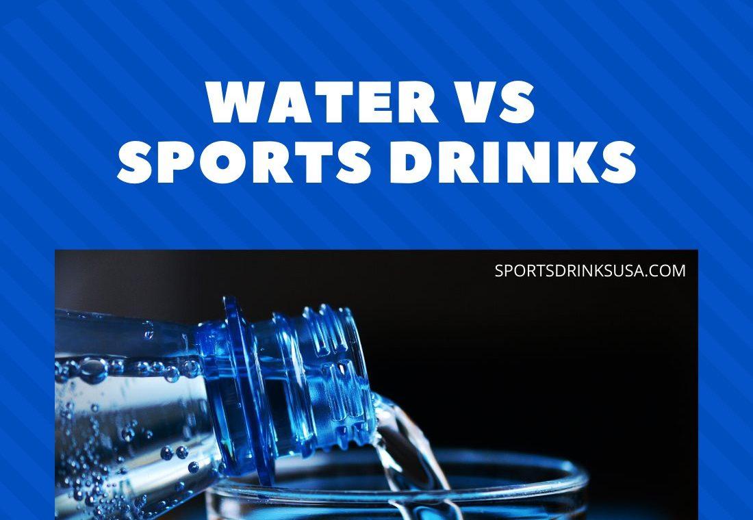 sports drinks vs water